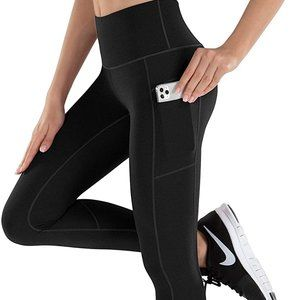 *NWOT* LifeSky Yoga Pants for Women with Pockets High Waist Tummy Control